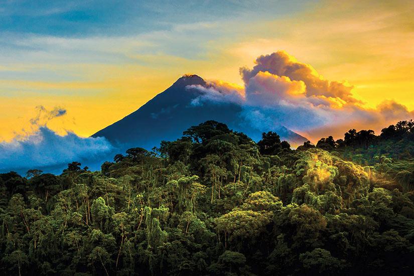 image Costa Rica Volcan Arena au lever du solei  fo