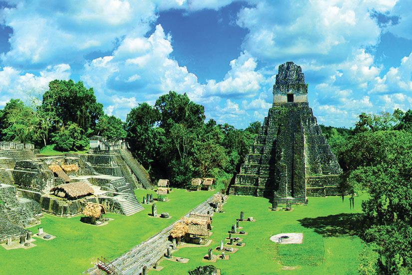 image Guatemala Tikal Vue de Ruines Panorama  fo