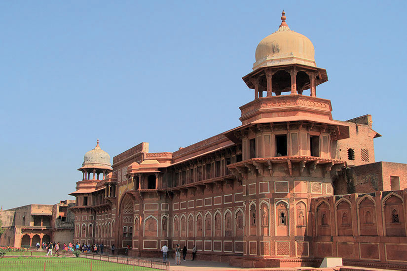 image Inde Agra Fort Rouge  fo