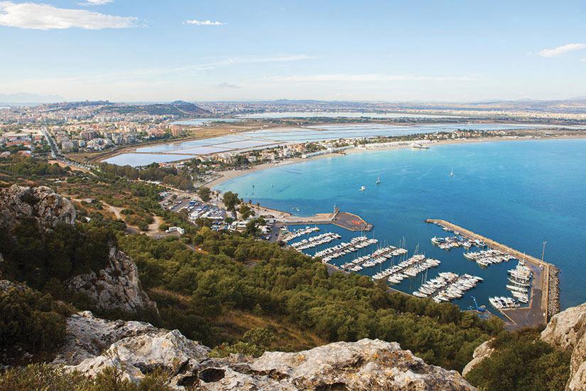image Italie Sardaigne Cagliari vue aerienne  it