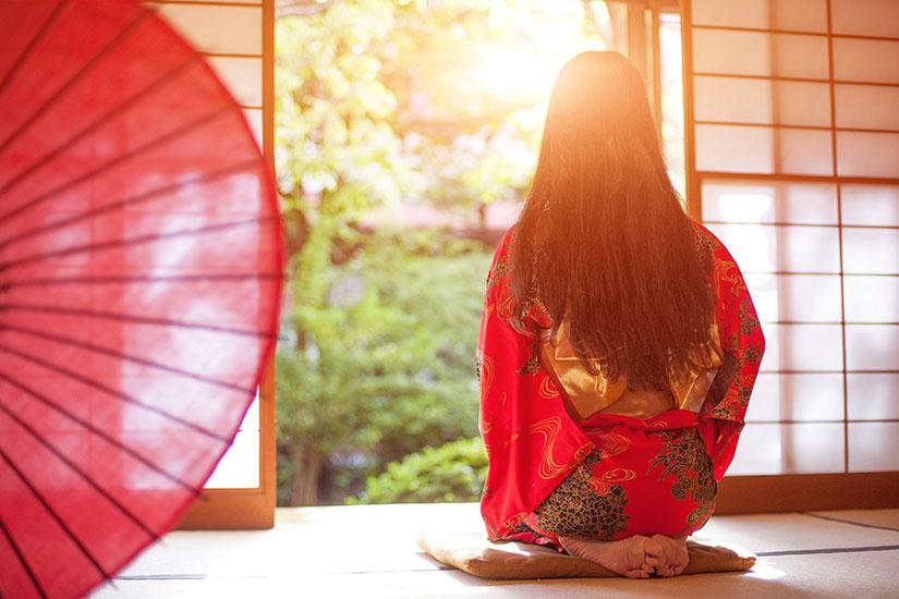 image Japon Kimono rouge  it