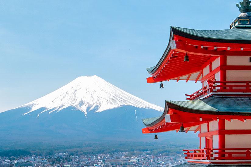 image Japon Pagode mont Fuji  fo