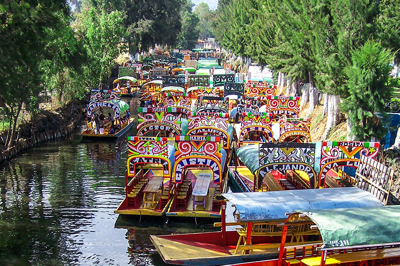 image Mexique Mexico bateaux Xochimilco  fo