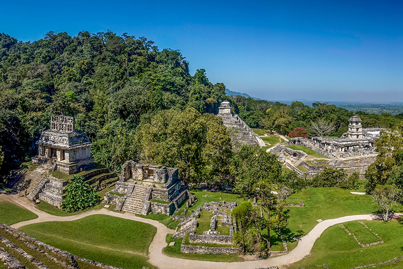 image Mexique Palenque panorama  fo