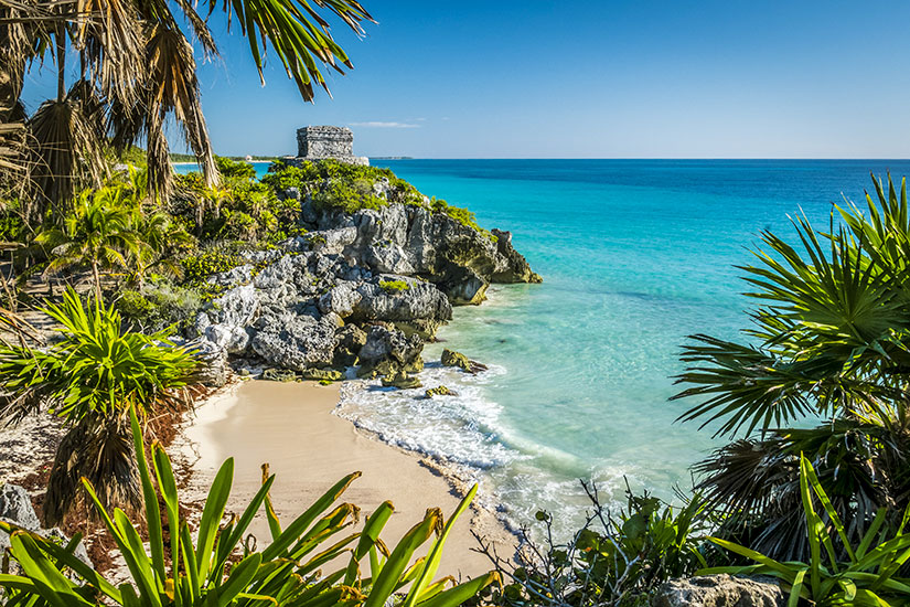 image Mexique Yucatan Tulum ruines mayas  fo