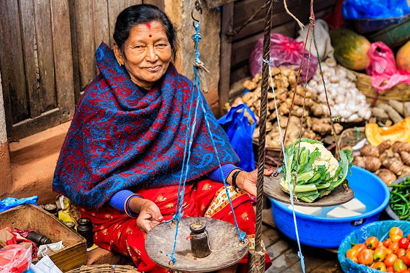 image Nepal Katmandou marche vendeur  it
