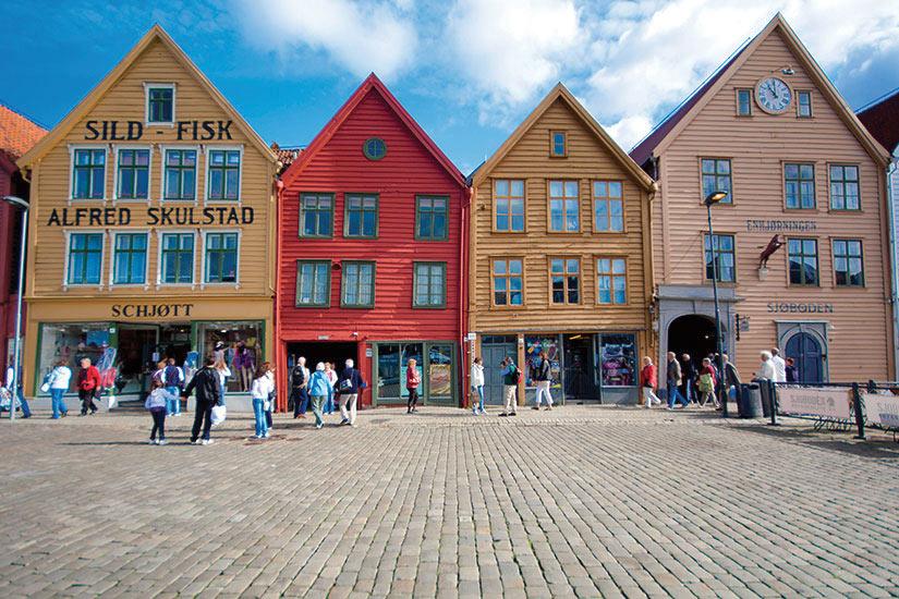 image Norvege Bergen maisons colorees