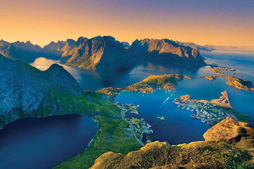 image Norvege Lofoten Vue aerienne fjord  it