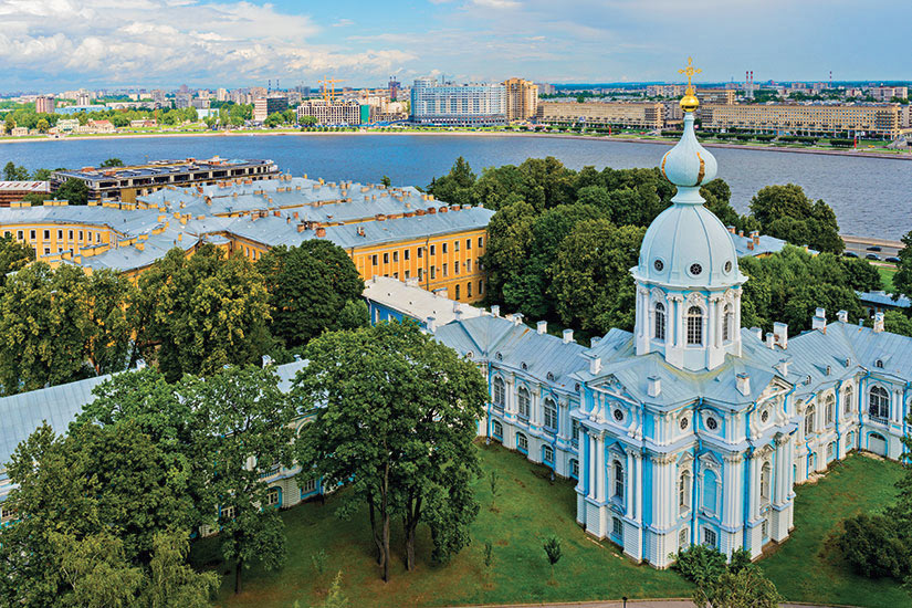 image Russie Saint Petersbourg Cathedrale Smolny  it