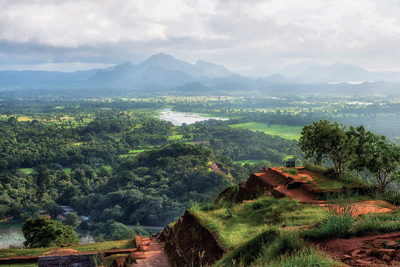 image Sri Lanka Sigiriya vue de Sigiriya Lion Rock  fo