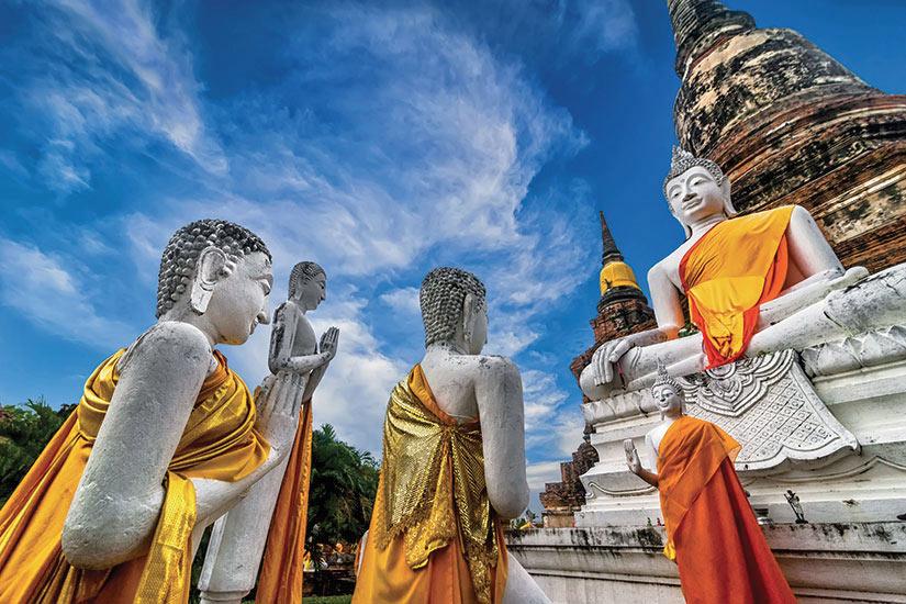 image Thailande Ayutthaya Wat Yai Chai temple  fo