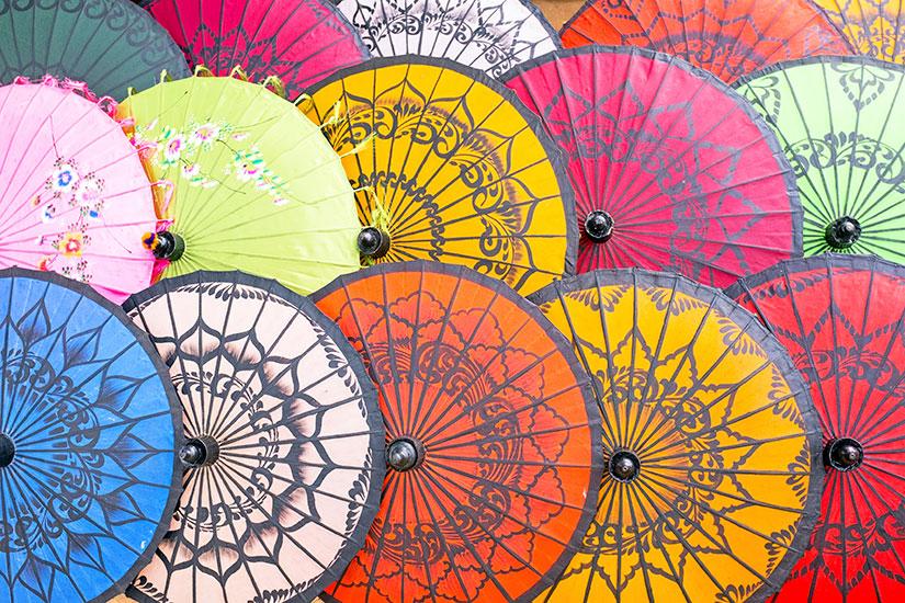 image Thailande Ombrelles papier colore  it