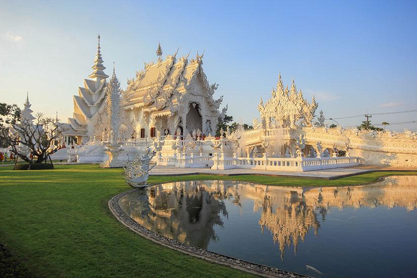 image Thailande Temple blanc Chiang Rai  fo