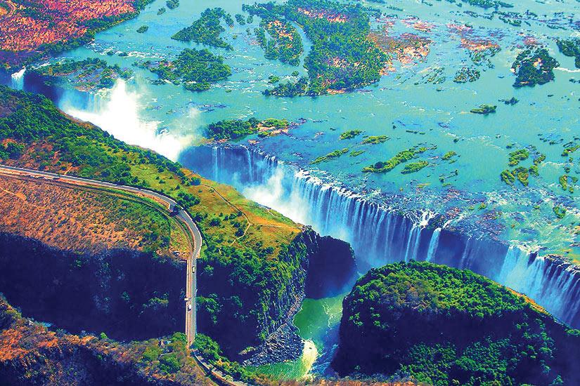 image Zimbabwe Zambie Chutes Victoria  it  Double