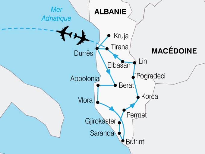 CARTE Albanie  shhiver 393512