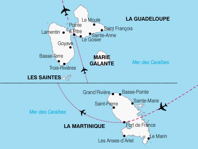 Circuit Antilles   Guadeloupe   Martinique : Les Antilles, la
