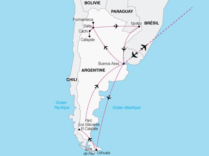 CARTE Argentine AltiplanoPatagonie  shhiver 523820