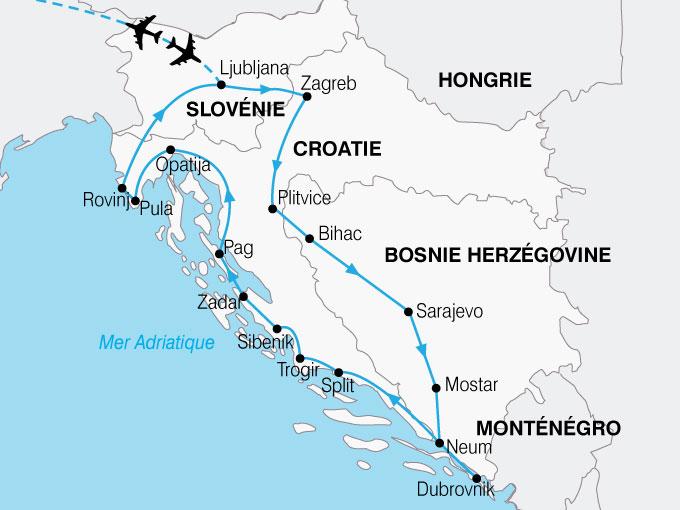 Circuit Bosnie Herzégovine   Croatie : Splendeurs de Croatie et de