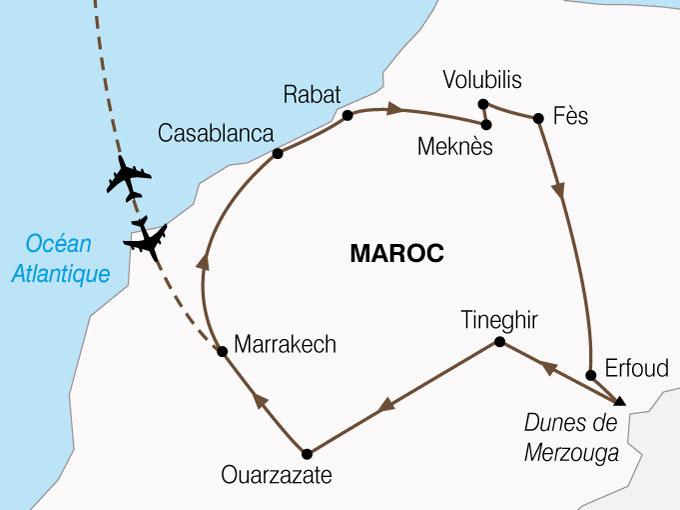 CARTE Maroc Cites Imperiales Magie Sud  shhiver 781799