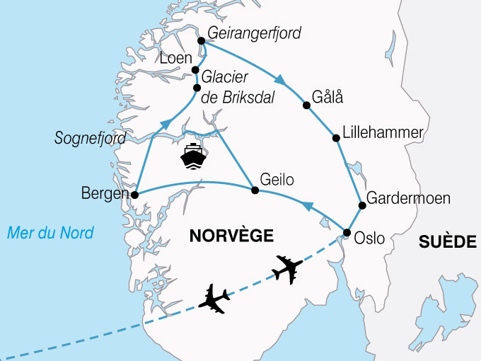 CARTE Norvege Plus Beaux Fjords  shhiver 814667
