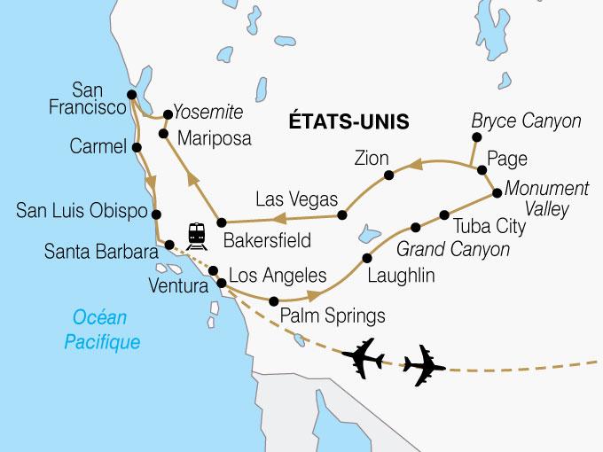Image Etats Unis Yosemite CARTE USA Californie Ouest Americain Premium Shhiver 359389