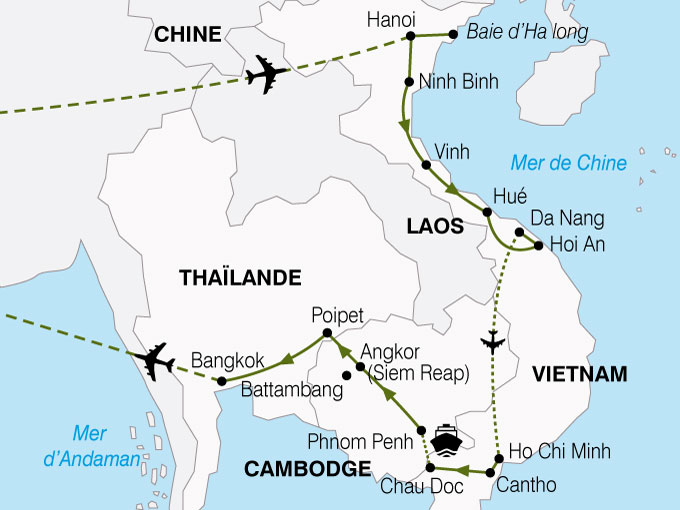 CARTE Vietnam Cambodge Richesses Mekong  shhiver 813368