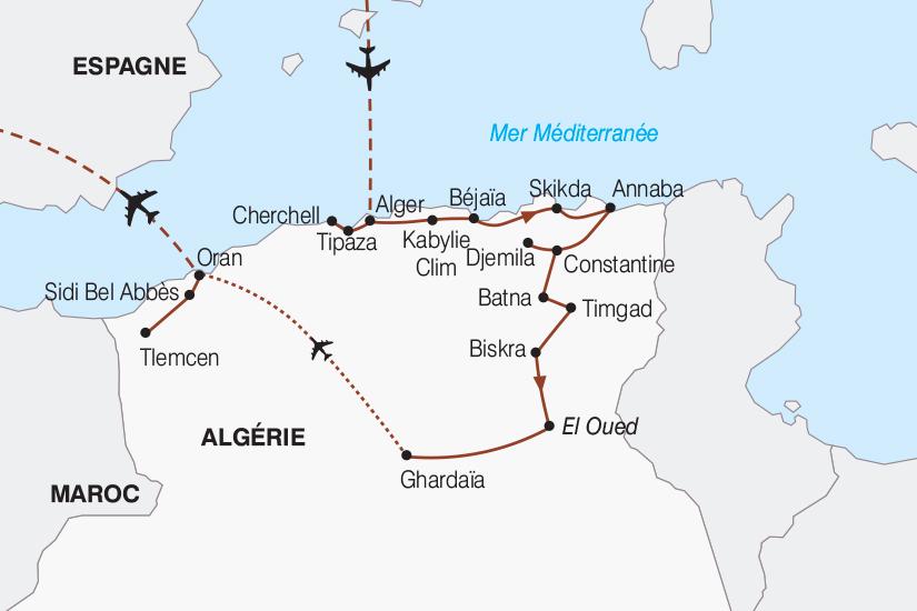 carte Algerie Le Grand Tour d Algerie de Bab el Oued au Sahara 2018_267 170186