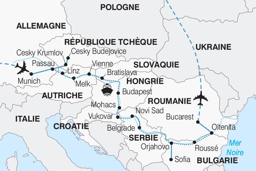 carte Allemagne Le Danube 10 pays au fil de l eau 267 579541