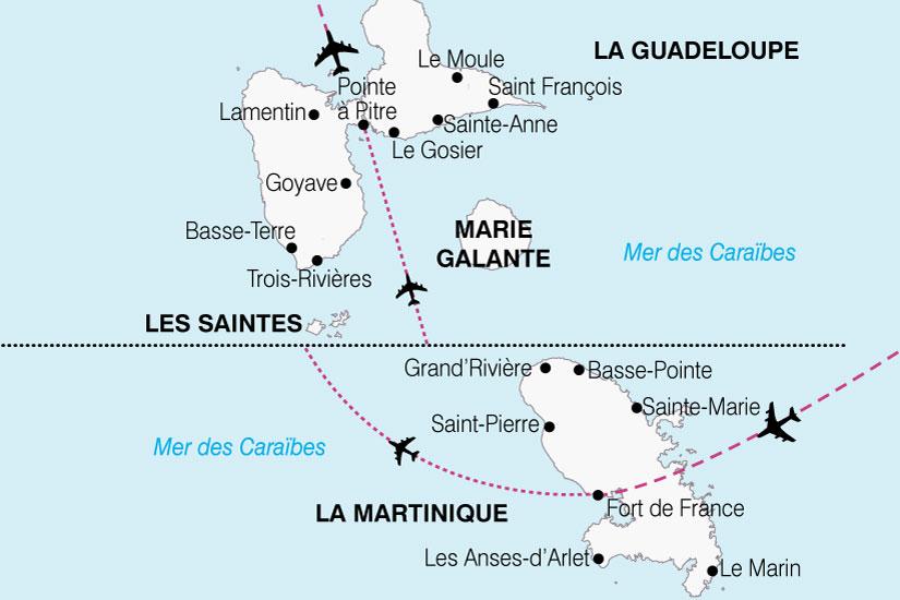 carte Antilles Caraibe Francaise 253850