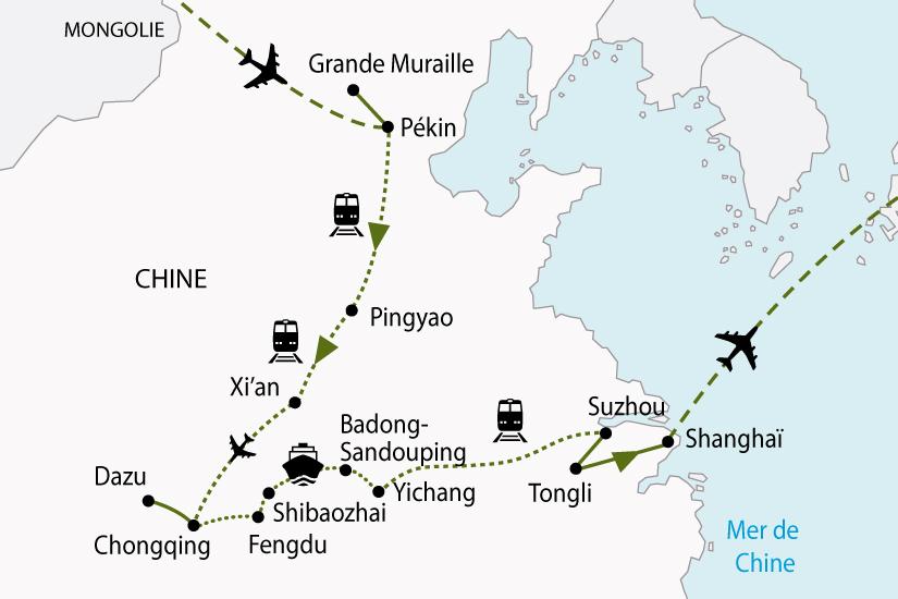 carte Chine CircuitCroisiere YangTse 377500