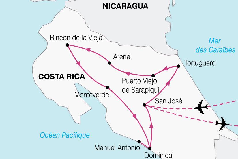 carte Costa Rica Paradis Vert 758683