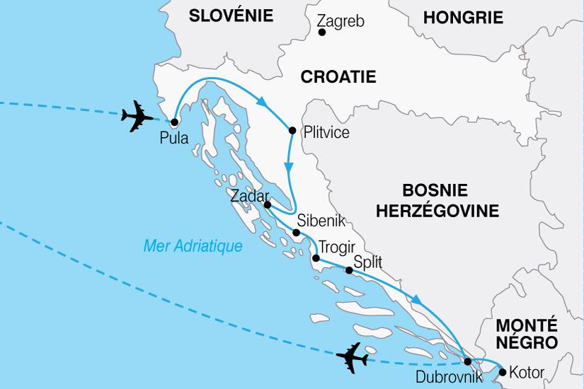 carte Croatie Grand Tour 880517