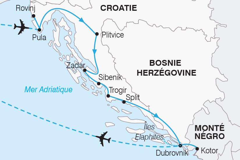 carte Croatie Le Grand Tour de Croatie SH19 20_319 661628