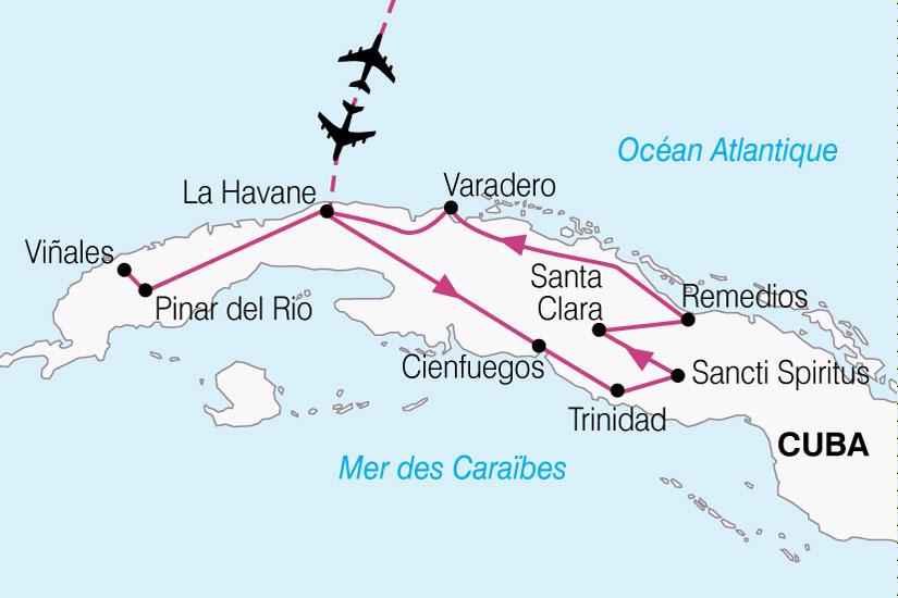 carte Cuba Escapade Cuba 414115