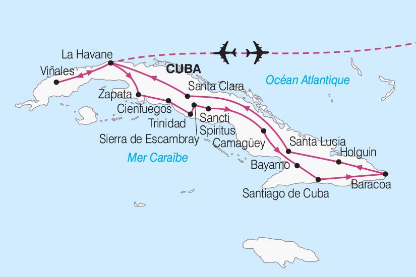carte Cuba Le Grand Tour de Cuba de la Havane a Santiago 2018_267 100549