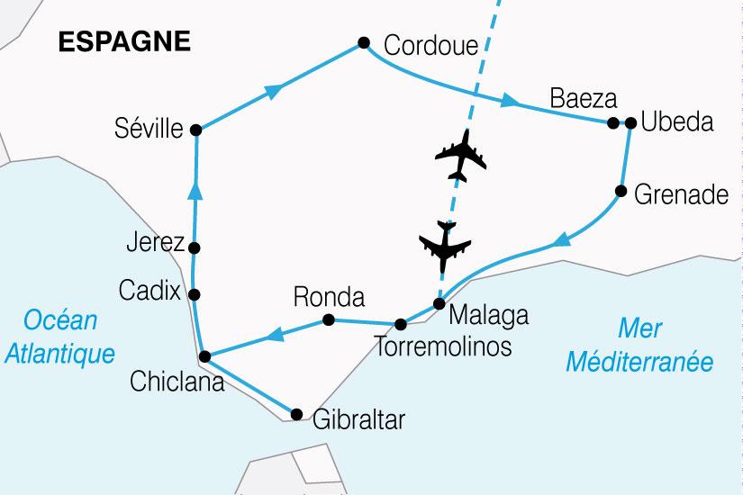 carte Espagne Grand Tour Andalousie 842035