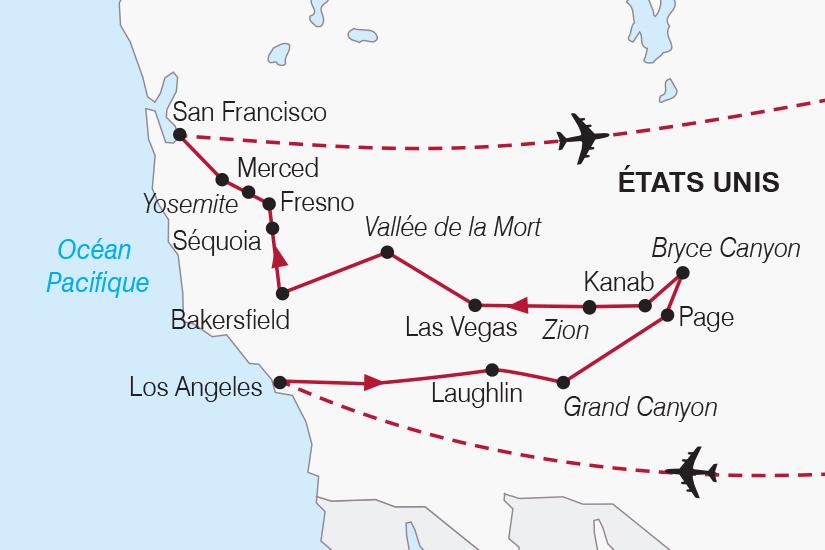 carte Etats Unis Panoramas de l Ouest Americain SH20_339 459728