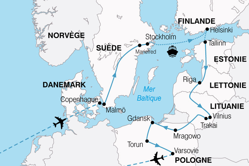 Circuit Danemark Estonie Finlande Lettonie Lituanie
