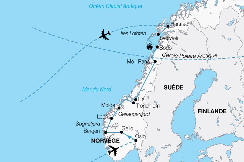 carte Europe Norvege Majestueux Fjords 808426
