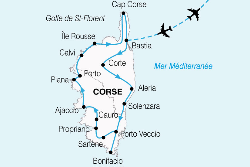 carte France Corse Grand Tour 267310