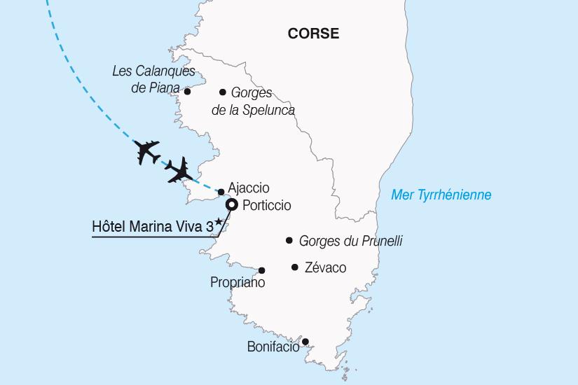 carte France Sejour decouverte en Corse SH20_339 511302