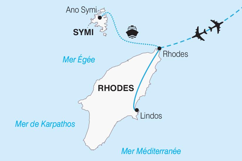 carte Grece Rhodes l ile aux Papillons et l ile de Symi 2019_292 681708