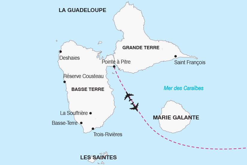 carte Guadeloupe Decouverte de l Archipel Guadeloupeen SH19 20_319 535502