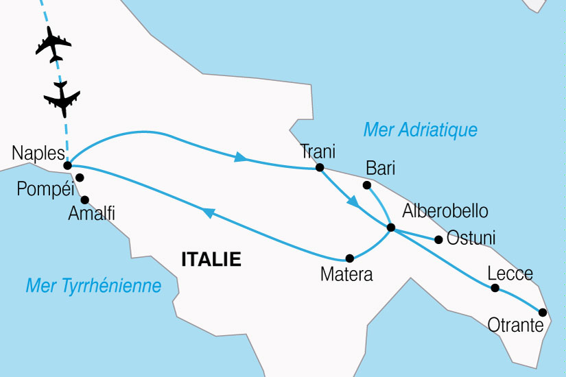 Carte Italie Ostuni.Circuit En Italie Splendeurs Du Sud De L Italie 8 Jours