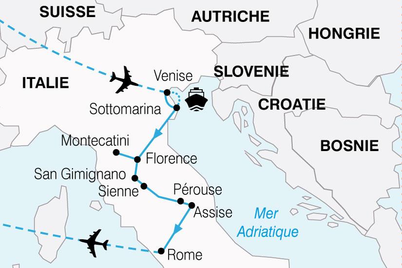 carte Italie Escapade Italienne 812207