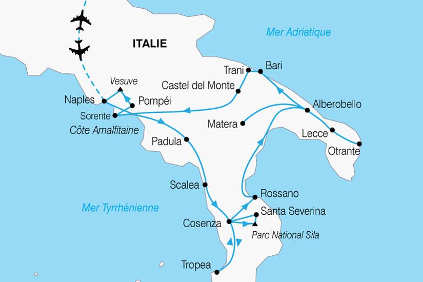 carte Italie Grand Sud 349350