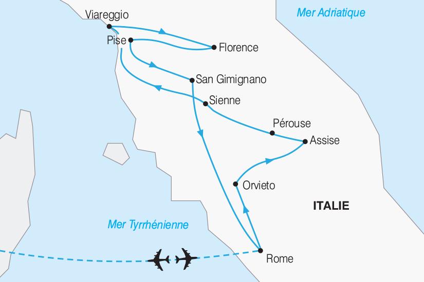 carte Italie La Toscane et Rome 2019_292 278770