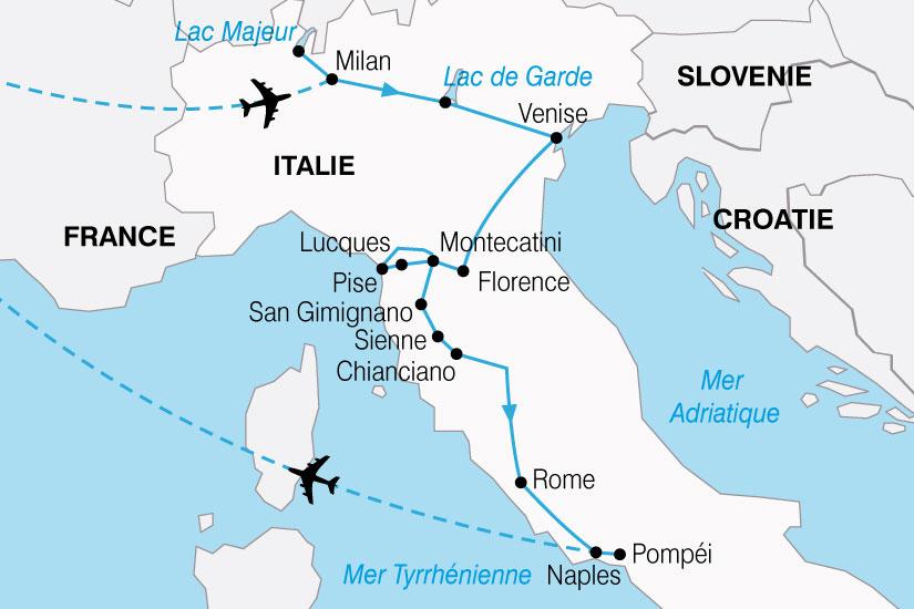 Carte Italie Venise Rome.Circuit En Italie Les Tresors D Italie 11 Jours Bt Tours