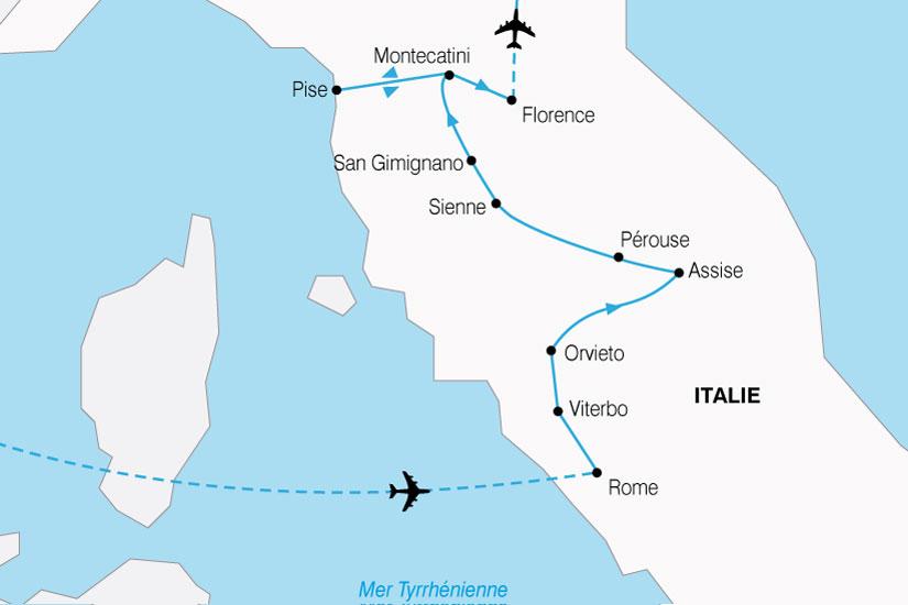 Carte Italie Assise.Circuit En Italie La Toscane Et Rome 8 Jours Bt Tours