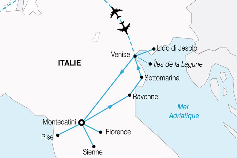 carte Italie Venise Toscane 540970